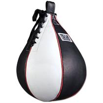 Leather Speed Bag- Black & White